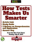 How Tests Make Us Smarter: Link, Discussion Guide, 3 Quizzes, Answer Key