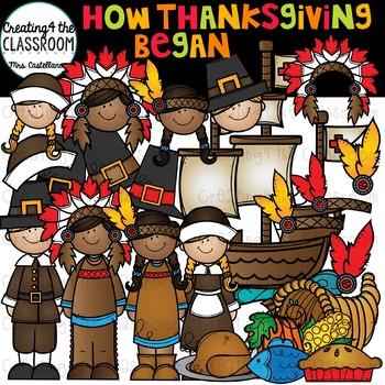 How Thanksgiving Began Clip Art {Thanksgiving Clip Art}