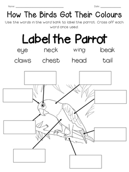 How The Birds Got Their Colours - Mini Unit Printables & Worksheets