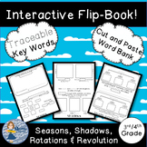 How The Earth Moves (Rotation, Revolution, Shadows, Seasons): 4 Page Flip-Book