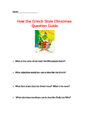 """""""How The Grinch Stole Christmas"""" Movie Questions"""
