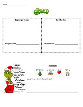 How The Grinch Stole Christmas Reflection Organizer