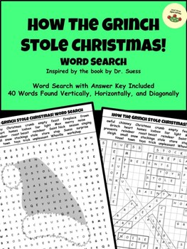How The Grinch Stole Christmas! - Word Search