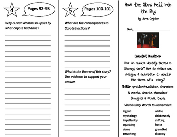 How The Stars Fell Into The Sky Trifold - ReadyGen 2016 4t