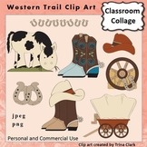 Western Trail Clip Art - Color  personal & commercial use