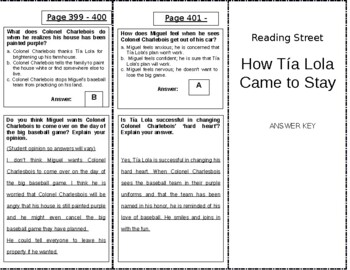 How Tia Lola Came to Stay - 4th Grade Reading Street