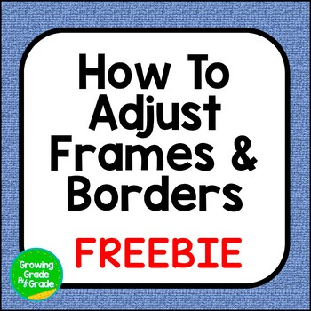 Product Covers Tutorial: How To Adjust Frames and Borders Freebie