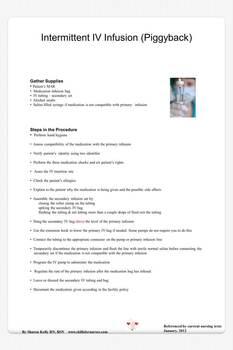 How To Administer A Secondary IV (Piggyback)
