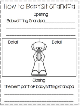 """How To Babysit Grandpa...a """"How To"""" Book Companion!"""