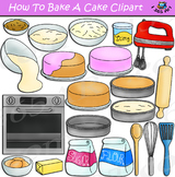 How To Bake A Cake Clipart