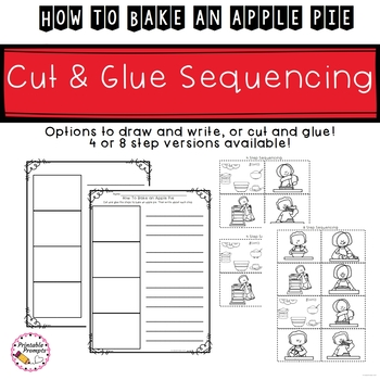 How To Bake an Apple Pie- Vocab, Sequencing & Writing