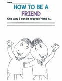 How To Be A Friend Coloring Sheets