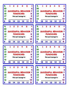 Successful Behavior: Punchcard