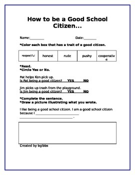 How To Be A Good School Citizen