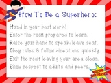 How To Be a Superhero Classroom Rules Poster by Teaching Ambrosia