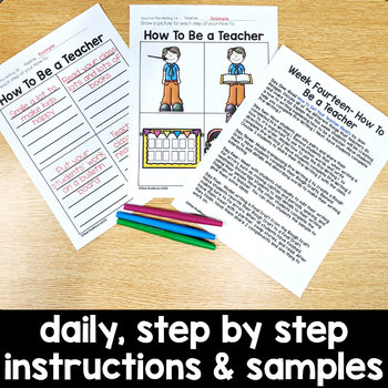 How To Be a Teacher: FREE Week Long Sample Writing Lesson for Primary Grades