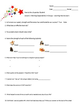 How To Become A Superstar Student Worksheets