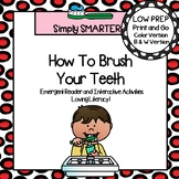 How To Brush Your Teeth Emergent Reader Book AND Interacti