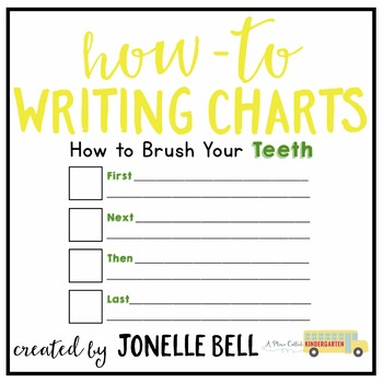 How To Brush Your Teeth Writing Chart