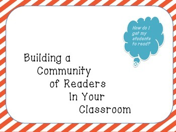 How To Build A Community of Readers In Your Classroom