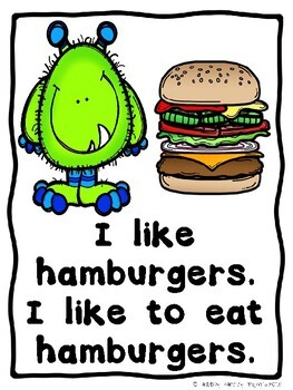 How To Build A Little Monster Burger (A Sight Word Emergent Reader)