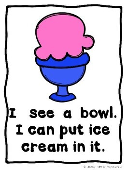 How To Build A Little Monster Ice Cream Sundae (A Sight Word Emergent Reader)