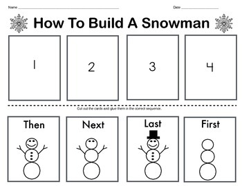 How To Build A Snowman (Differentiated Options)