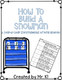 How To Build A Snowman Writing