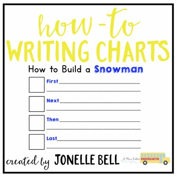 How To Build A Snowman Writing Chart