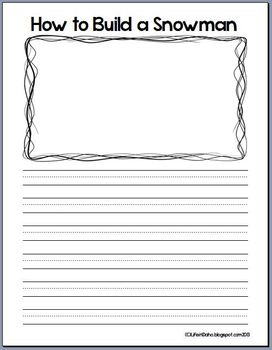 How To Build A Snowman writing template by Primary in ...