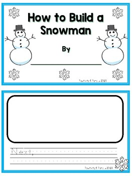 How To Build a Snowman Writing Activities