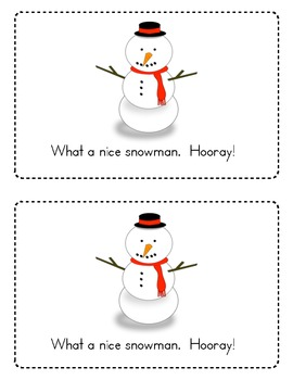 How To Build a Snowman Emergent Reader