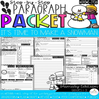 It's Time to Build a Snowman! How-To Paragraph Packet