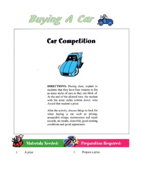 How To Buy A New Or Used Car Lesson