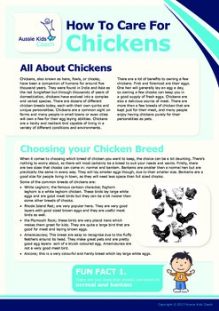 How To Care For Chickens Project Sheets