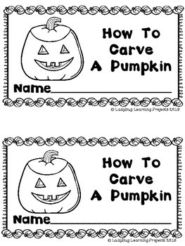 How To Carve A Pumpkin (A Sight Word Emergent Reader)