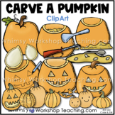 How To Carve A Pumpkin Clip Art Set from the Fall Autumn Clipart Bundle of 8