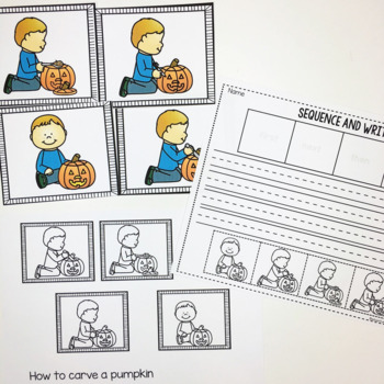 How To Carve A Pumpkin- Sequencing and Writing Prompt