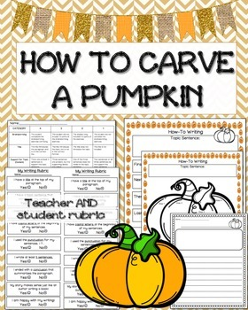 How To Carve a Pumpkin: Writing Activity
