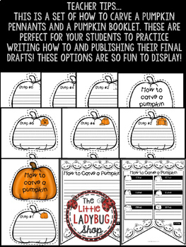 How To Carve a Pumpkin Writing • Teach- Go Pennants™