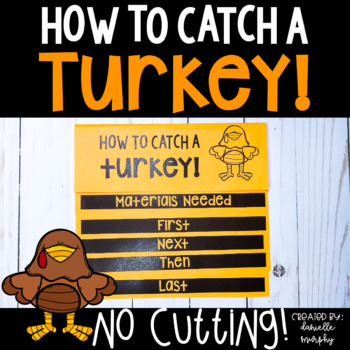 How To Catch A Turkey Flip Book for Thanksgiving