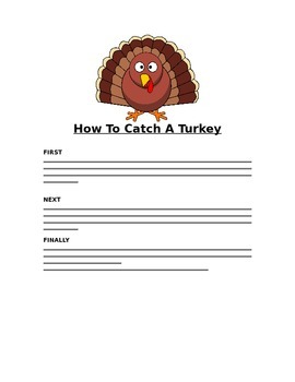 How To Catch A Turkey Sequence Writing