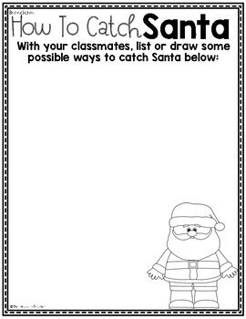 How To Catch Santa - Writing & Craft