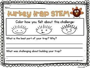 How To Catch a Turkey: Turkey Trap STEM Thanksgiving