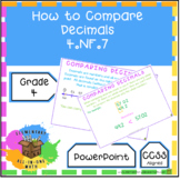 How To Compare Decimals - PowerPoint  4th Grade (4.NF.7)