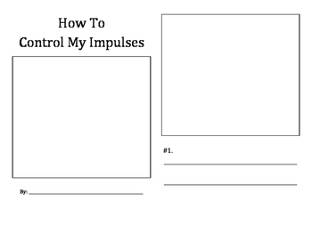 How To Control My Impulses student booklet