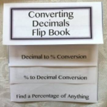 How To Convert Decimals to Percentages Flip Book
