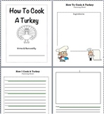 How To Cook A Turkey Writing/ Sequencing Activity