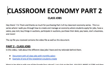 Class Jobs | How To Create A Classroom Economy Part 2