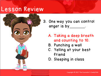 How To Deal With Anger : An Interactive PowerPoint / Whiteboard Lesson
